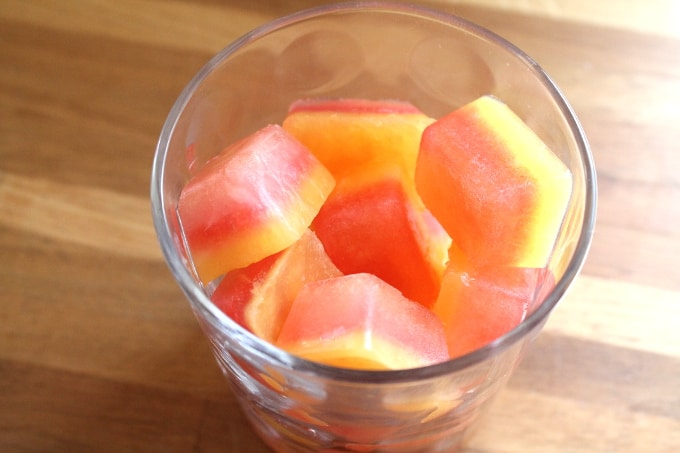 juice ice cubes