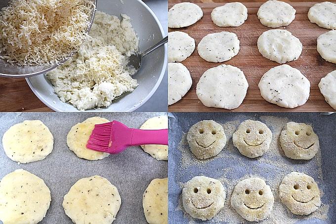 homemade potato smiley faces
