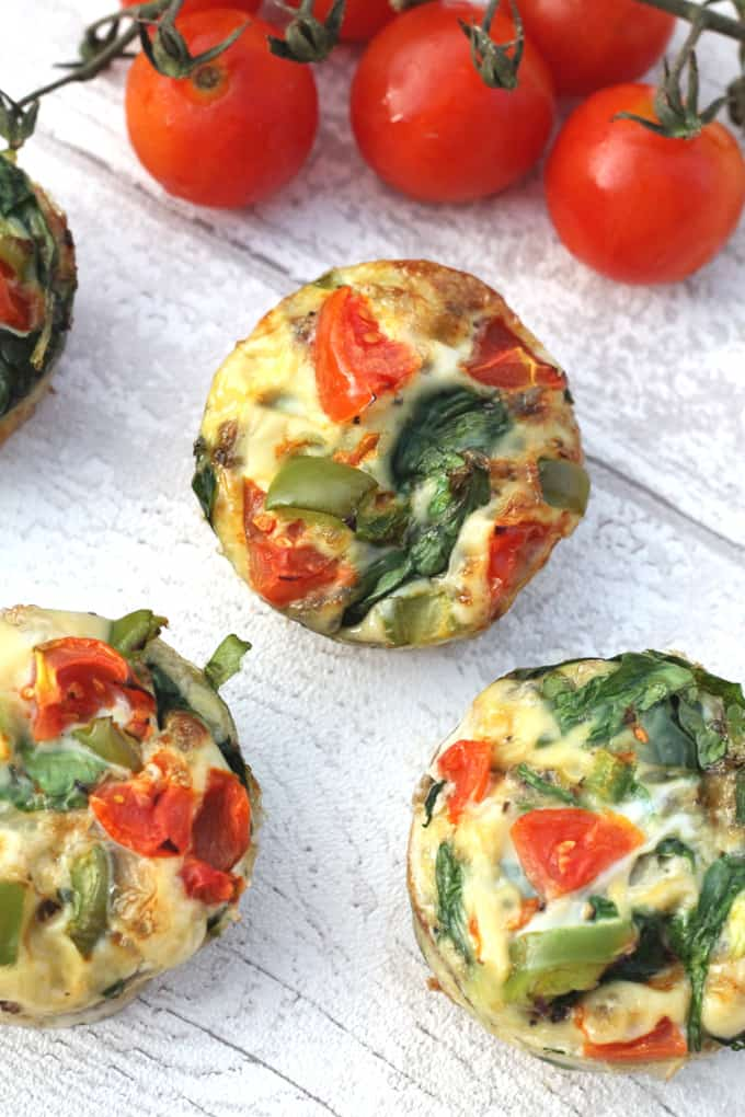 spinach and bacon egg muffins