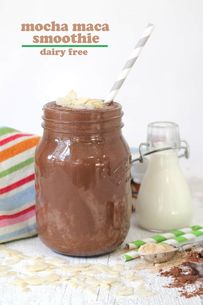 mocha maca smoothie dairy free