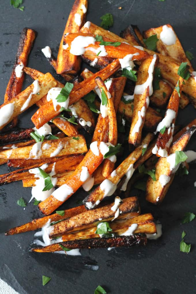 Carrot & Parsnip Fries - My Fussy Eater