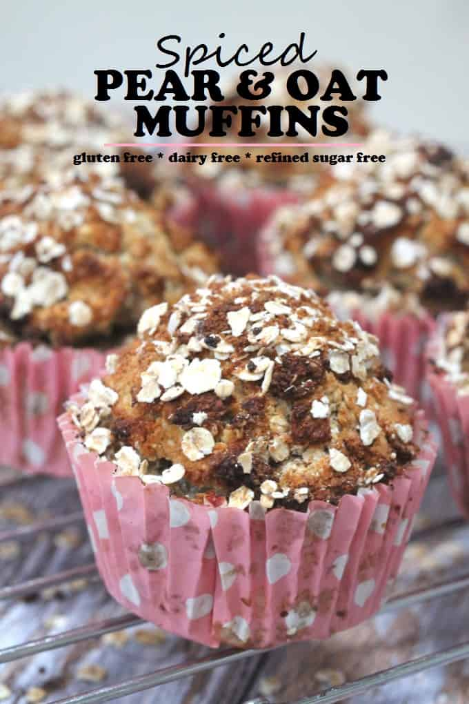 pear oatmeal breakfast muffins