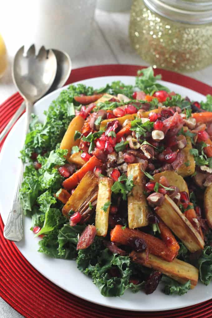 leftover christmas salad kale turkey ham
