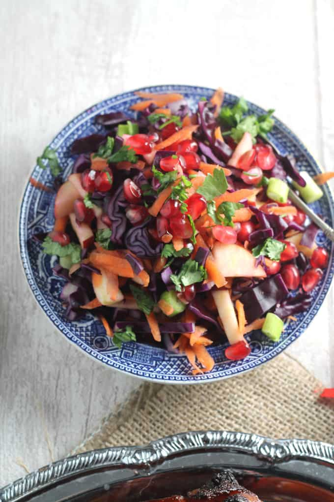 christmas red cabbage salad