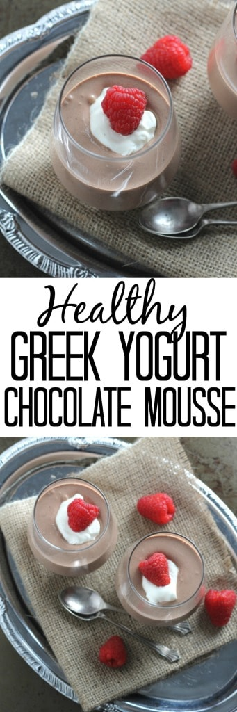 Greek Yogurt Chocolate Mousse. A light and healthy alternative to ...