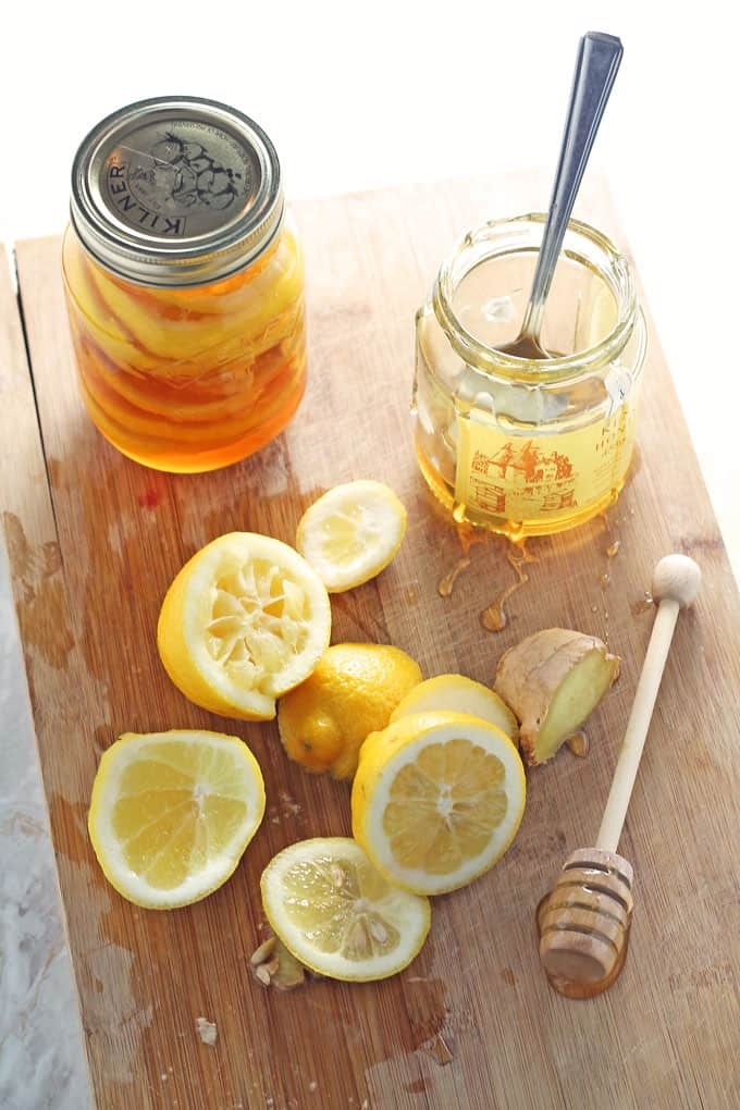 honey lemon ginger jar cold flu