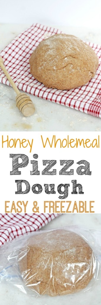 Easy & Freezable Honey Wholemeal Pizza Dough Recipe | My Fussy Eater Blog