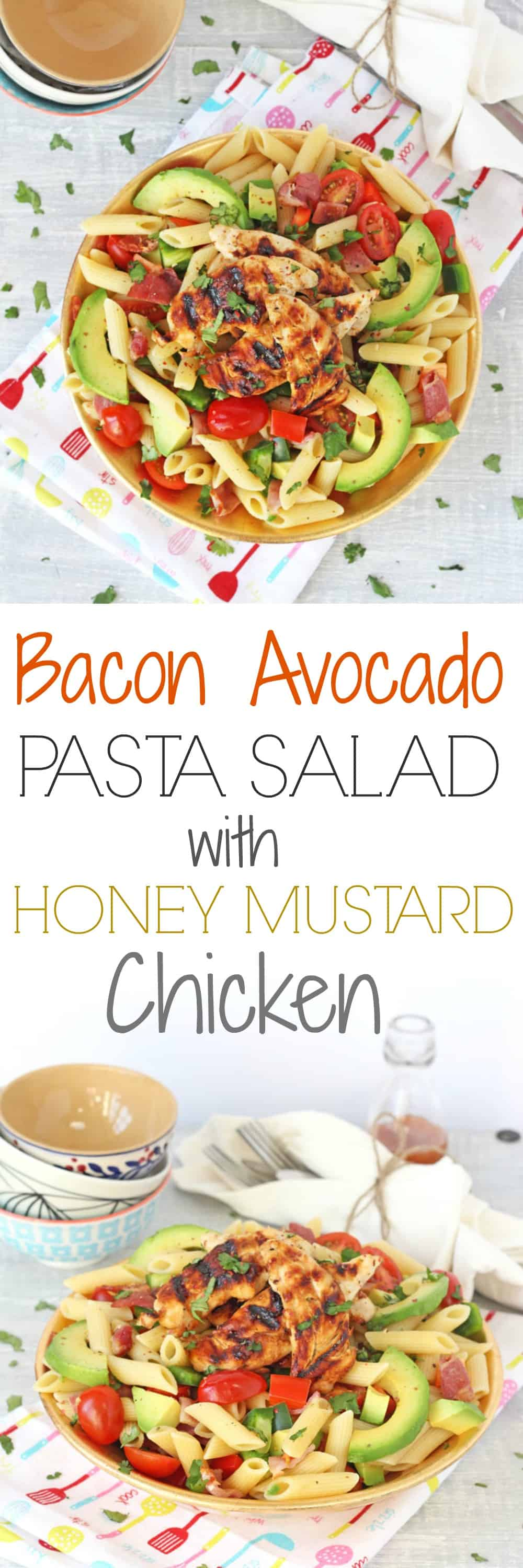 Honey Mustard Chicken Avocado Salad – Recipesbnb