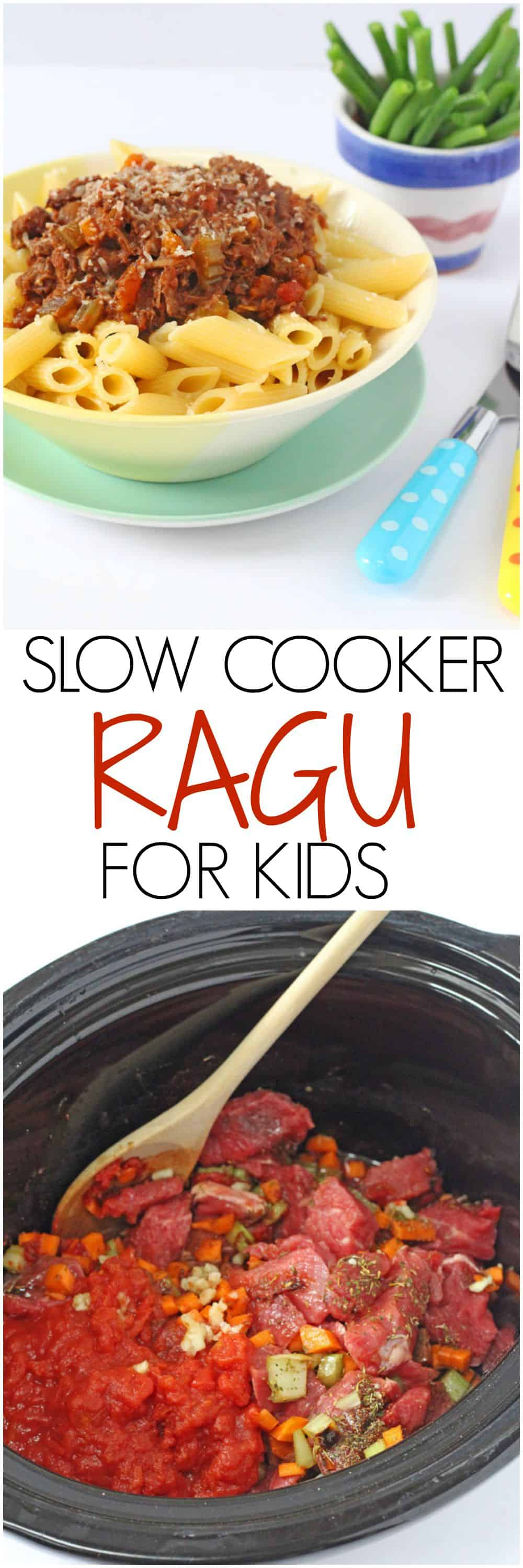 A super easy slow cooker ragu recipe with one secret ingredient. No frying required and everything is cooked in one pot!| My Fussy Eater blog