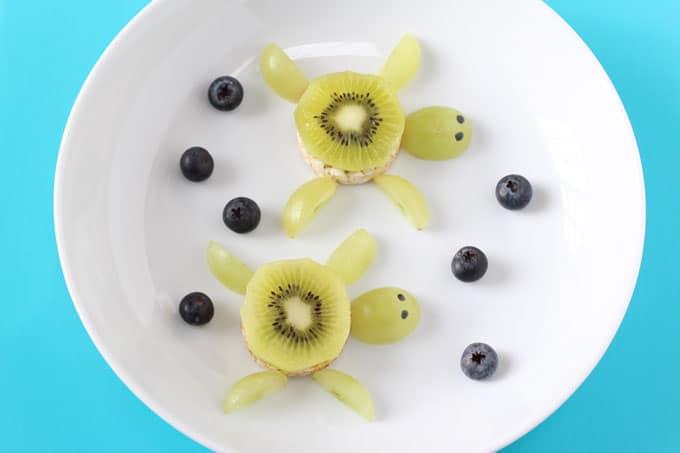 Kiwi Rice Cake Turtle My Fussy Eater Healthy Kids Recipes