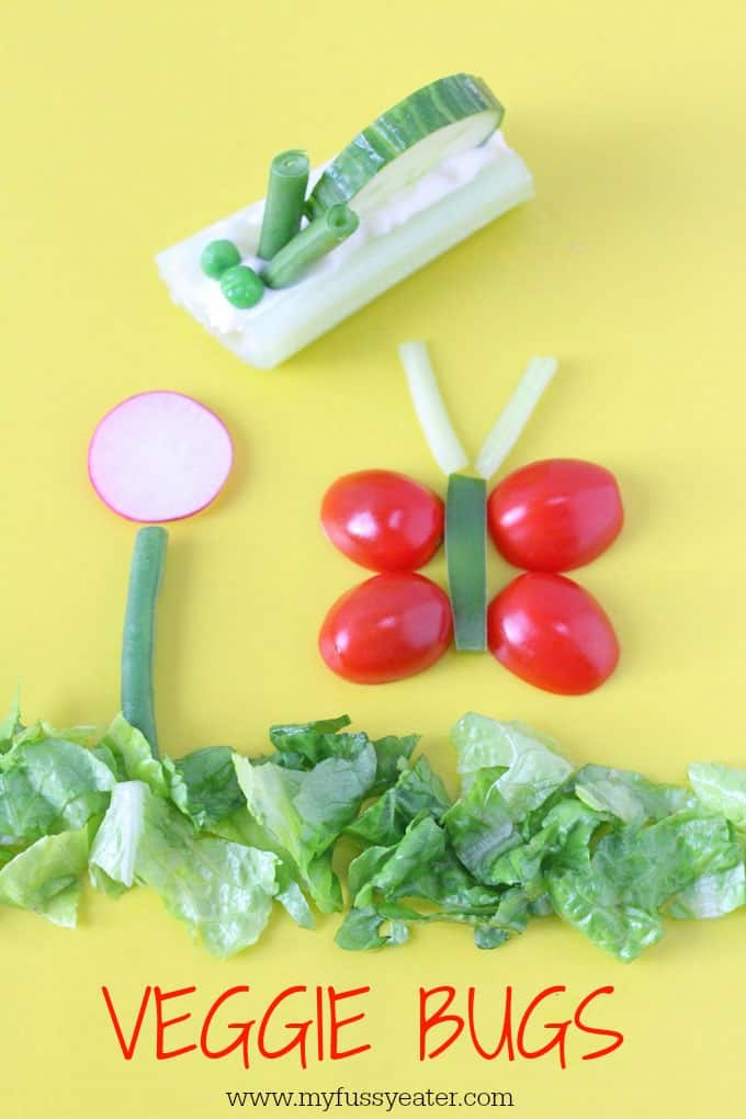 If you struggle to get your kids to eat vegetables, try making these fun veggie bugs. They make a delicious and healthy snack, perfect for toddlers and older children too!   My Fussy Eater blog