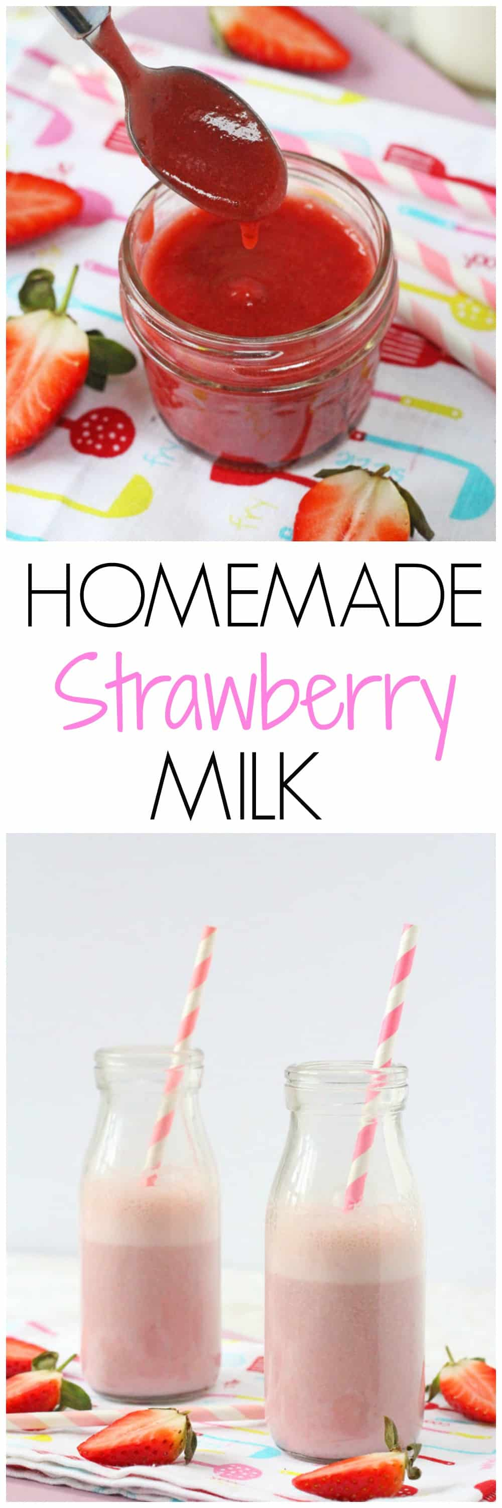 Strawberry Milk is so easy to make at home and much healthier too. The kids will love this! | My Fussy Eater blog