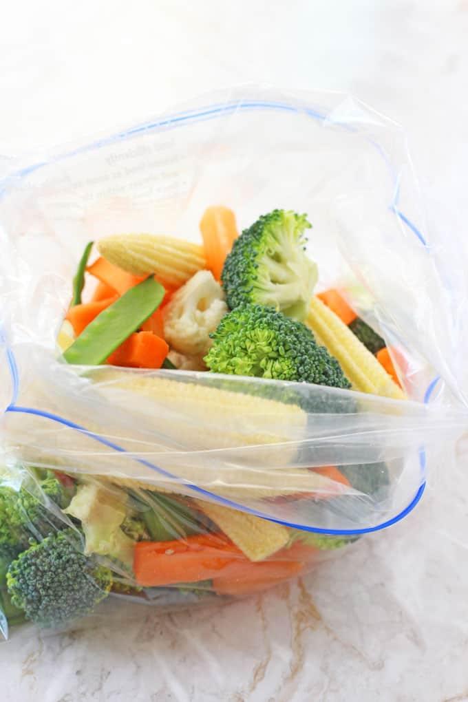Steaming Veggies In The Microwave Is So Quick And Easy Using My Foolproof Ziplock Bag Method