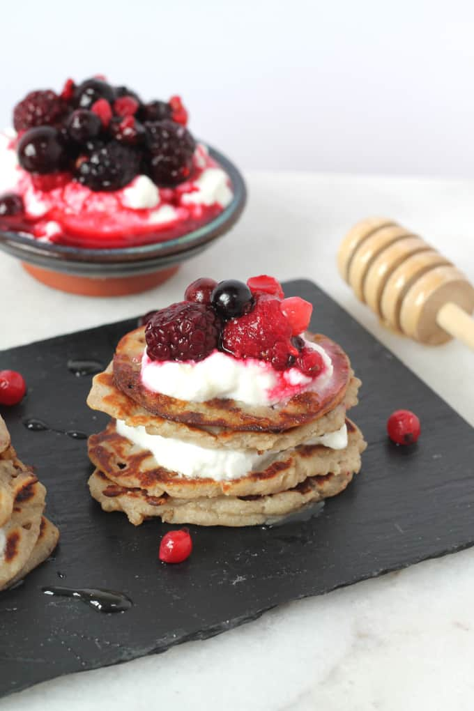 Coconut & Banana Buckwheat Pancakes | My Fussy Eater blog