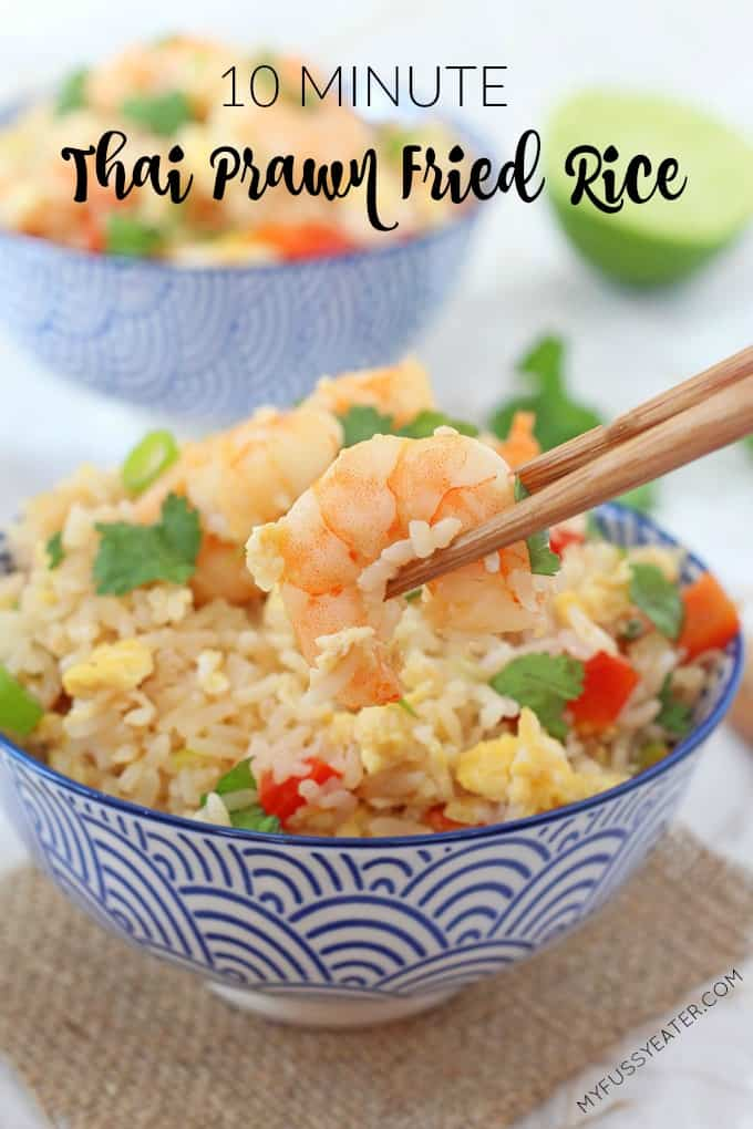 Next time you're tempted to reach for the takeaway menu, try this delicious and speedy Prawn Thai Fried Rice dish!