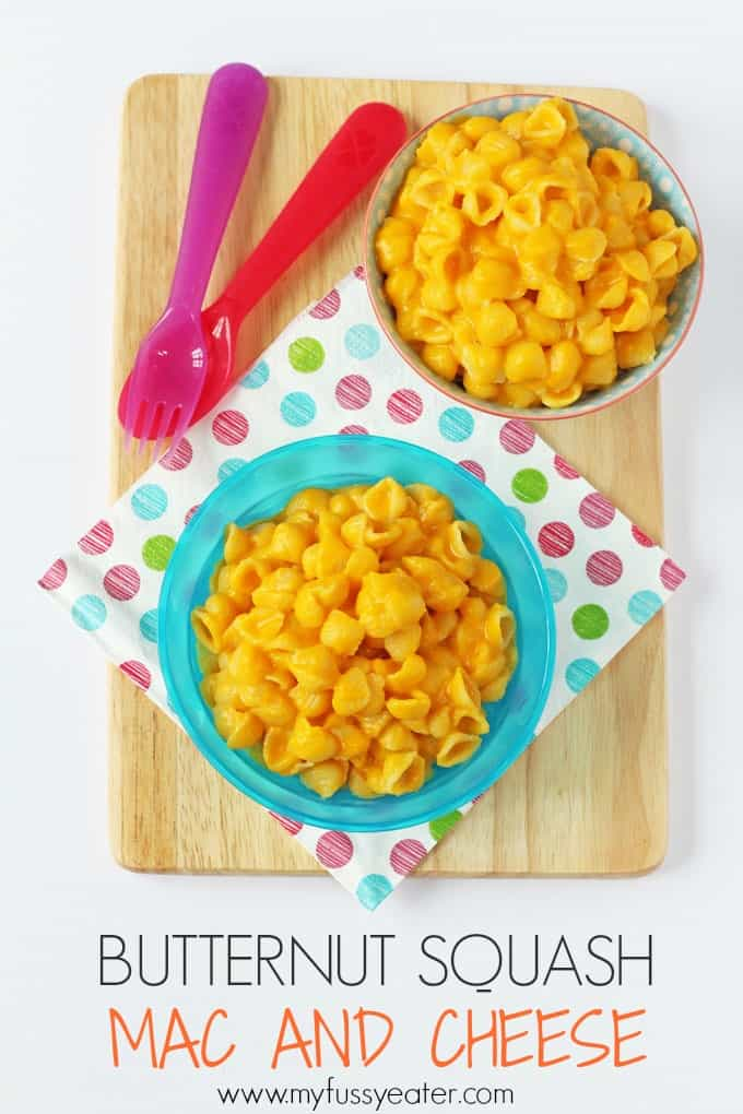 Delicious and super easy to make; kids will love this Butternut Squash Mac & Cheese. Great for picky eaters!