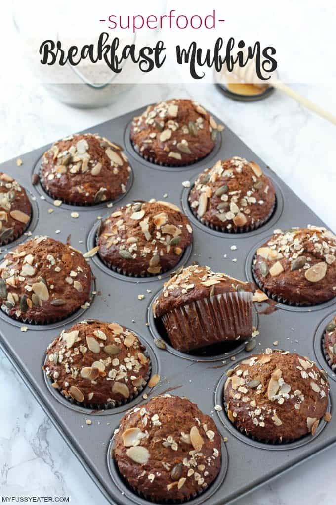 superfood breakfast muffins with rowse manuka honey my fussy eater healthy kids recipes. Black Bedroom Furniture Sets. Home Design Ideas