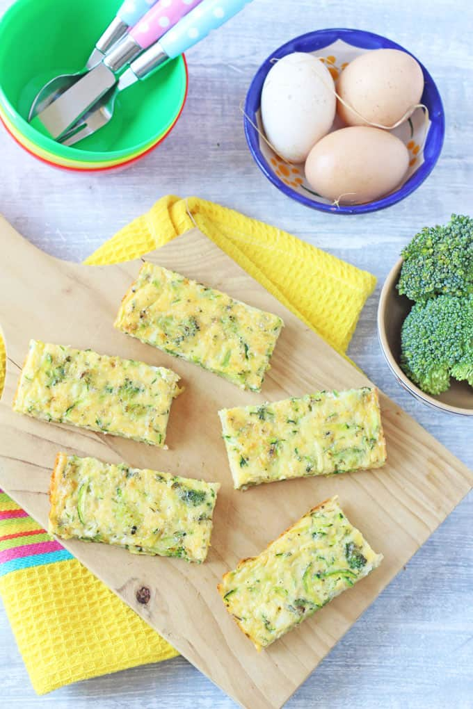 Broccoli & Cheese Frittata Fingers for Baby Weaning or Toddler Fingers Foods