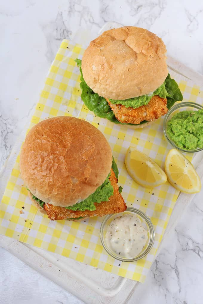 Comfort food can still be healthy! These super tasty Fish Finger Sandwiches are lightly coated in breadcrumbs and then air fried for a crunchy coating!