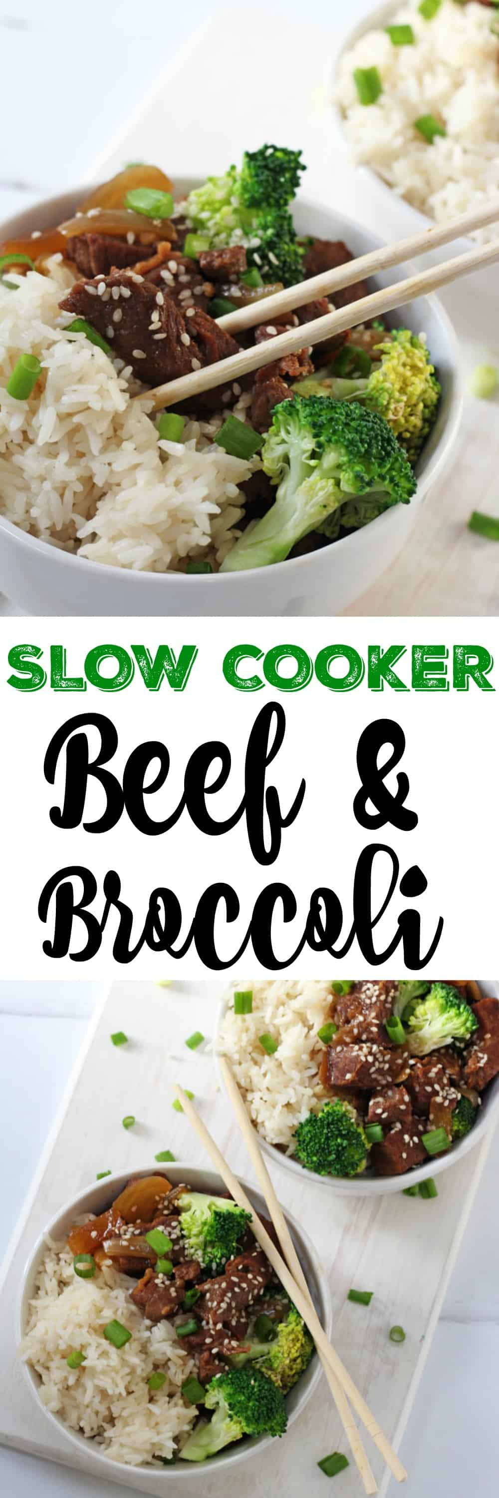 A super simple and delicious Beef and Broccoli recipe. This is so easy to make, simply chuck all the ingredients into the slow cooker or crockpot and leave it to cook all day.