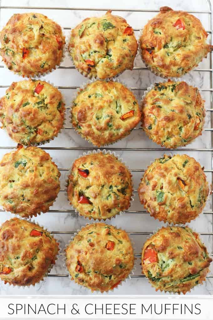 Spinach & Cheese Savoury Lunchbox Muffins