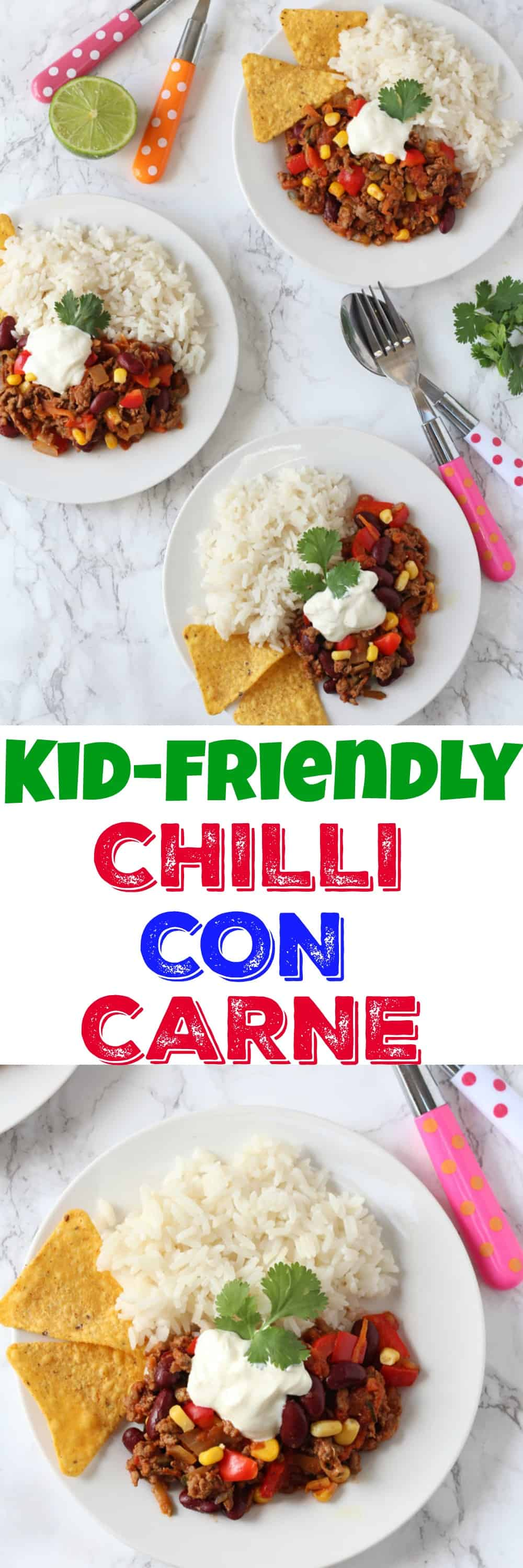 A tasty and mild Chilli Con Carne recipe for kids that's packed full of lots of vegetables too!