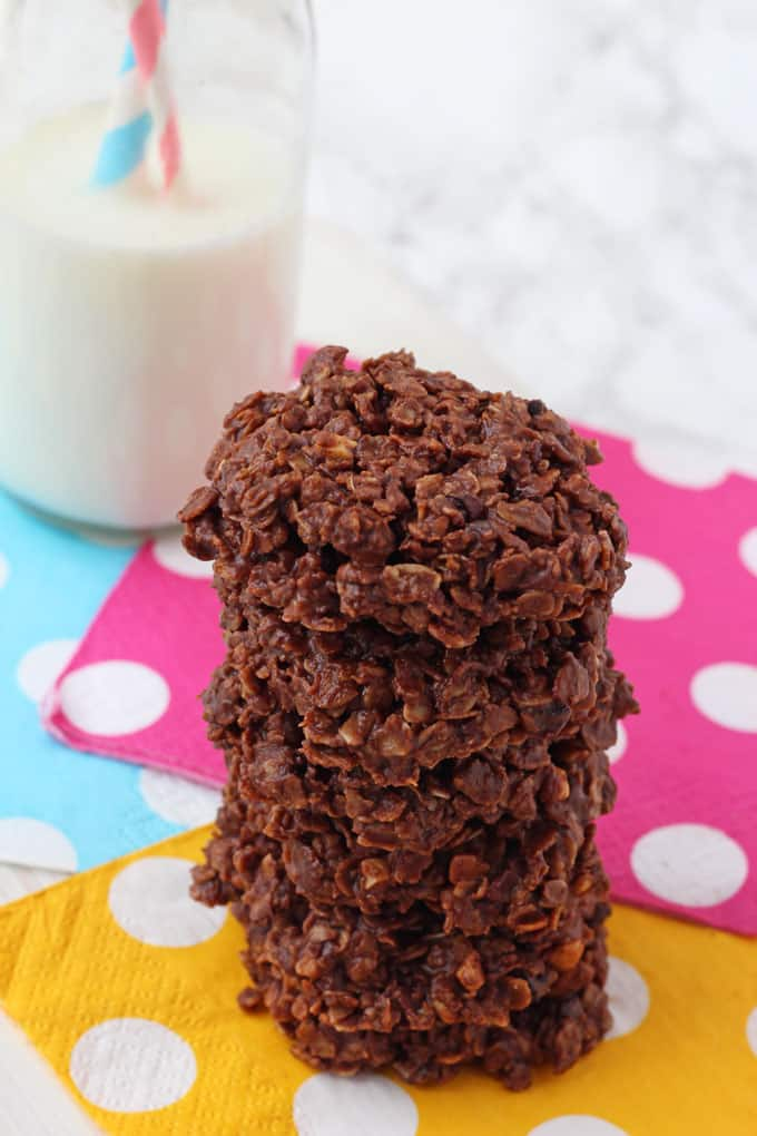 No Bake Chocolate Breakfast Cookies made with Breakfast by Bella Granola
