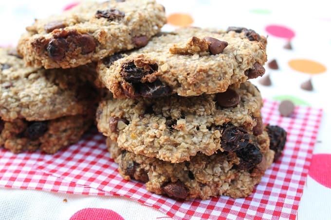oat and banana cookies