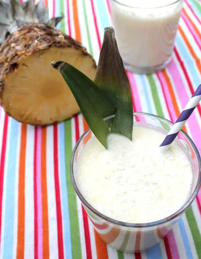 healthy pina colada smoothie