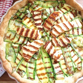 halloumi and courgette tart