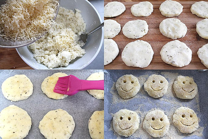 homemade potato smiley faces