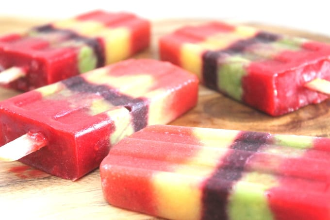 fruit ice lollies