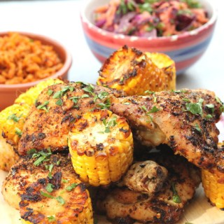 Peri Peri Chicken with Sweetcorn
