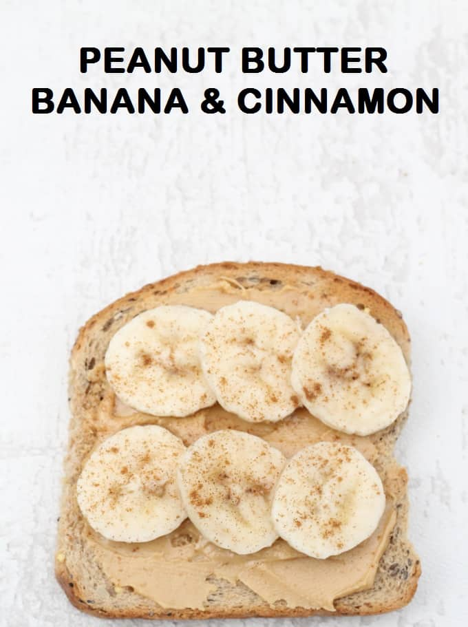 peanut butter banana and cinnamon toast