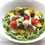 zoodles with spinach pesto