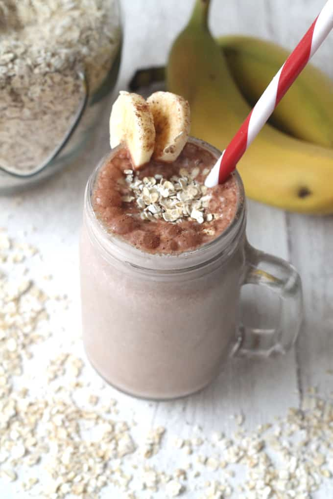 cocoa oat smoothie