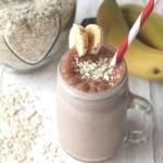 choco banana breakfast smoothie