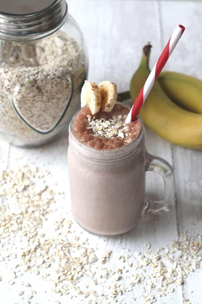 cocoa banana oat smoothie