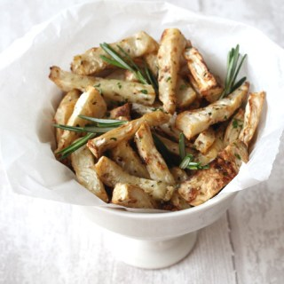 garlic and herb celeriac fries