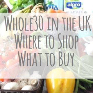 Whole30 UK Shopping List