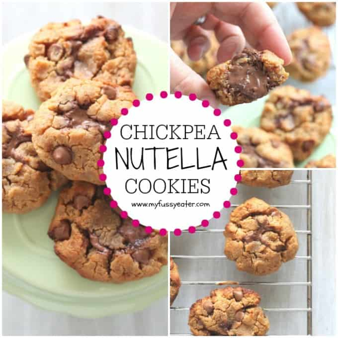 Pack your snack full of protein with these delicious Chickpea Nutella Cookies!