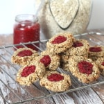 oat thumbprint cookies chia jam