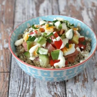 Smoked Salmon, Egg & Avocado Quinoa Bowl