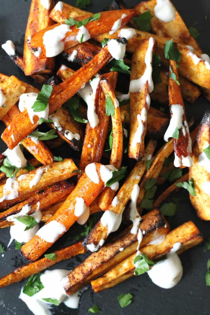 carrot parsnip fries