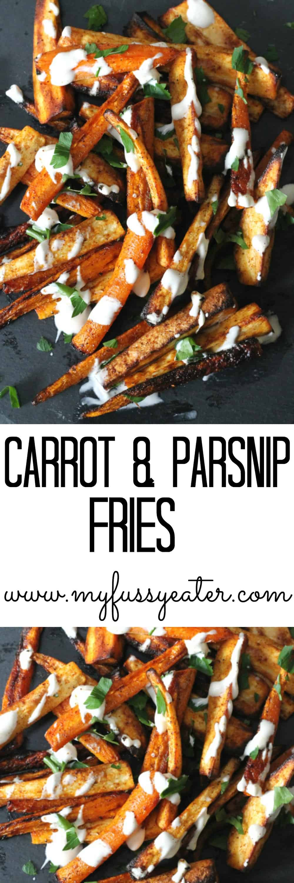 carrot and parsnip fries pinterest pin