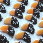 chocolate and coconut coated mandarins