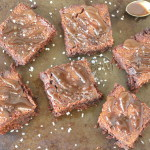 coconut sugar salted caramel brownies