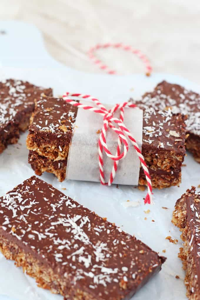 Chocolate Coconut Flapjacks