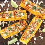 mecian corn on the cob feta cheese