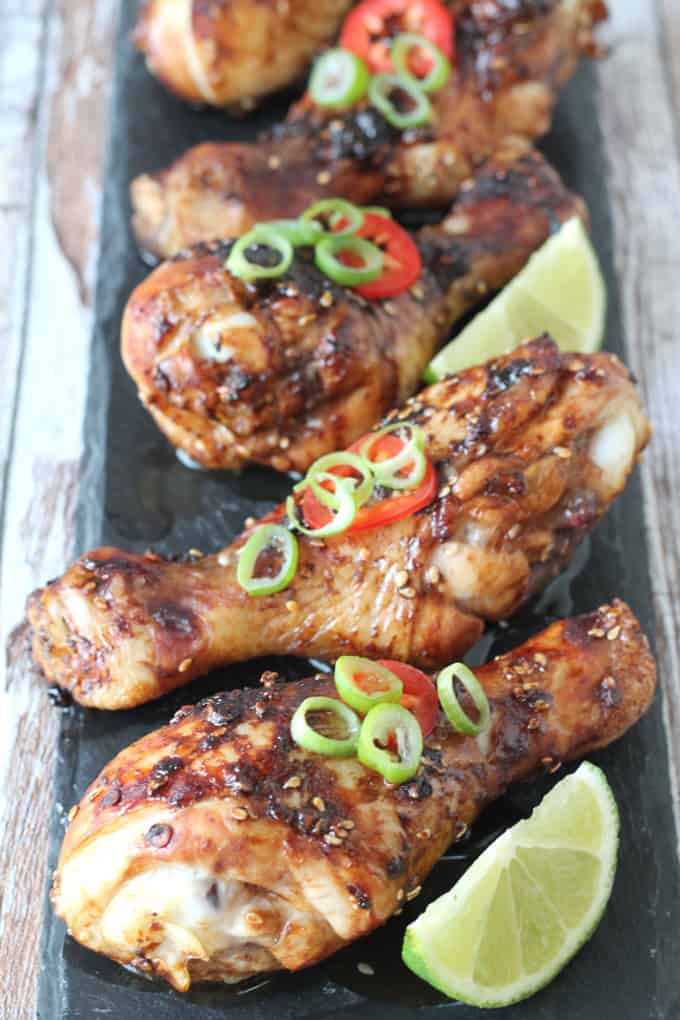 sweet and sticky chilli chicken